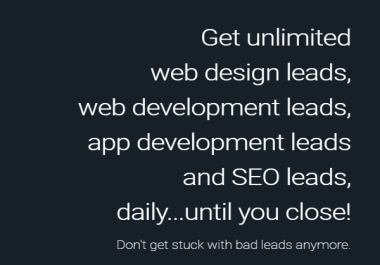 Guaranteed Sales For Any Business, Unlimited SEO, Web design Leads.