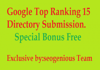 Google Top Ranking 15 Directory Submission
