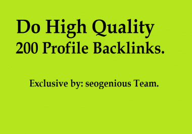 Do High Quality 200 Profile Backlinks