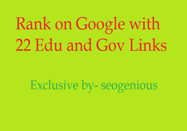 Rank on Google with 22 Edu and Gov Links