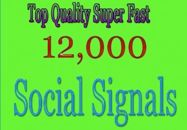 Super Fast Google Rank 12,000 HQ SEO Social Signals