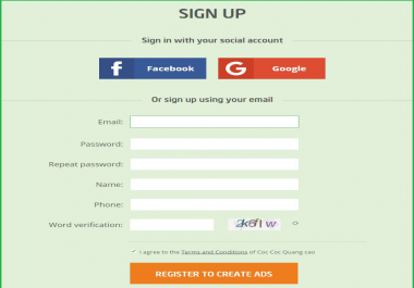 Get you 10 website signups with confirmation