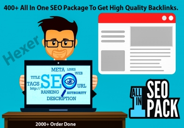 400+ All In One SEO Package To Get High Quality Backlinks.