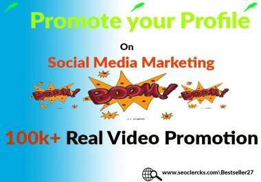 Profile Video Promotion Split-able Social Media Marketing