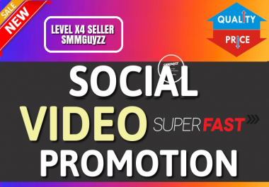 Fast SOCIAL VIDEO Real and organic Promotion