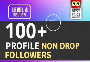 Add 100+ High Quality Fast Profile Followers NON DROP