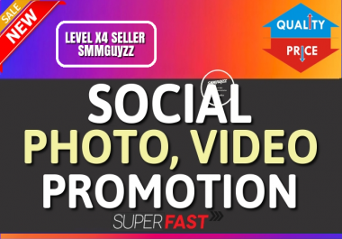 Get Real Photo OR Video High Quality Organic Promotion