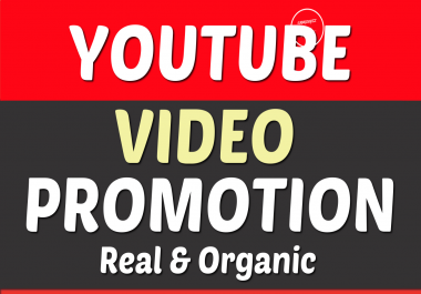 YouTube Video Real Promotion and Marketing NON DROP