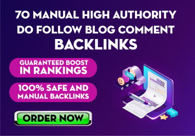 70 High Quality Manual Blogcomments Backlinks