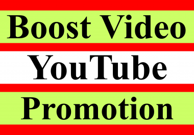 Grow your Youtube video best promotion offer