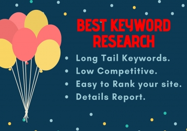 SEO Keyword Research and website competitor analysis very fast complete your work