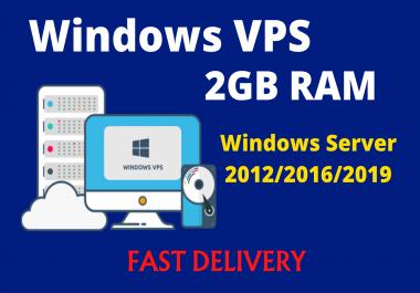 Windows 2012/2016/2019 RDP VPS 2GB RAM 80 GB HDD 1vCPU