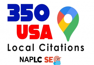 I will Submit manually High Quality 350 Live USA Local Citations for Local SEO. Money Back Guarantee