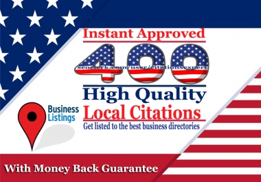 you will get 400 Instant Approved USA local citations for your business listings