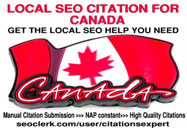 Do Manually TOP 40 Live Local Citations for Canada.Money-Back Guarantee