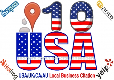 I will Submit manually TOP 10 Live USA/UK/CA/AU Local Citations for Local SEO