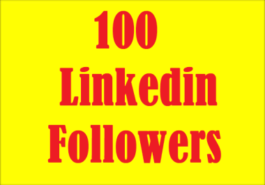 Collect 100 HQ Linkedin Company Page Followers
