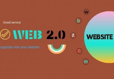 I create 5 high DA web 2.0 Backlinks