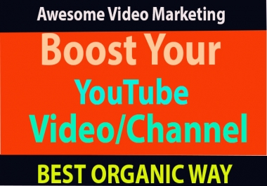 Awesome Youtube Promotion & Video Marketing Via Social Media Network