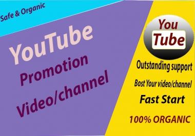 Safe High Quality Youtube Promotion & Marketing Via Social Media