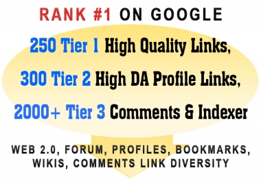 500+ Authority Links Diversity to Rank #1 on Google