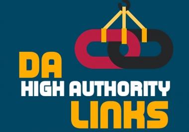 Create 200 High DA Backlinks service for you