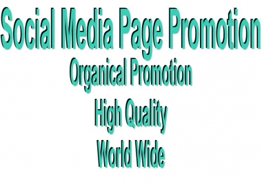 World Wide Social Media Page Promotion Instant