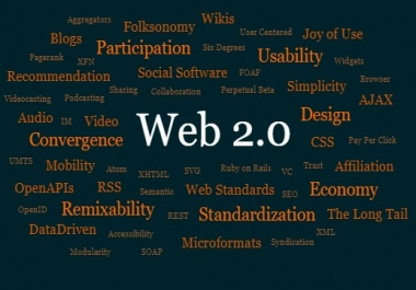 50+ WEB 2.0 blog dedicated accounts