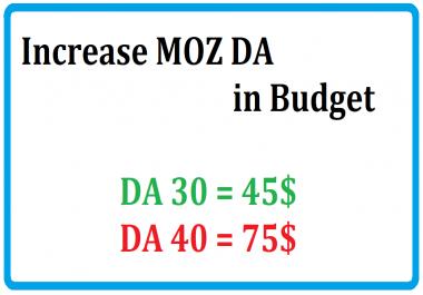 Increase Your MOZ DA In Good Price
