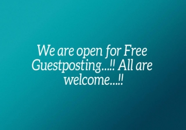 Guest Post Service On New Blog in Very Very Less