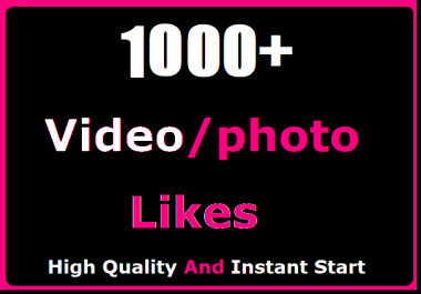 1000+ Likes In Social High Quality And Instant