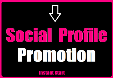 Get Social Media Profile Promotion Promotion High Quality