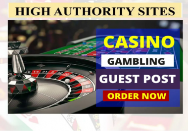 Publish A Guest Post On Gambling Poker Sports Betting Online Casino site With 100% Indexing Guarante