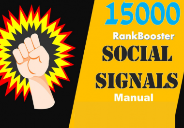 I will do 15,000 Social Signals