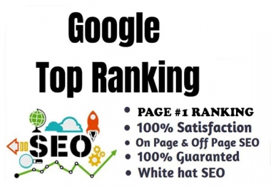 Google page #1 ranking guarantee Monthly SEO Package
