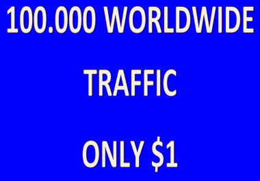 Real 100.000 worldwide traffic from Google, Yt, Fb, Tw
