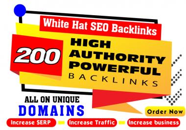 Top Ranking - 200 high authority powerful SEO Backlinks