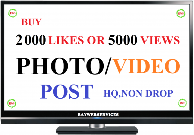 Instant delivery 2000 photo as or 5000 video scene promotion (Price Increased)