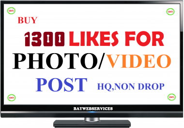 INSTANT 1300 Picture OR 10000 Video-promotion instant