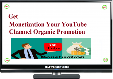 Get Youtube Monetization with real organic traffic