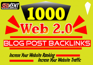 1000 contextual Web 2 SEO backlinks to boost your website ranking