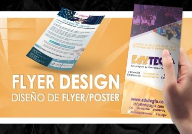 I will design your poster or flyer in spanish or english / Español o Ingles