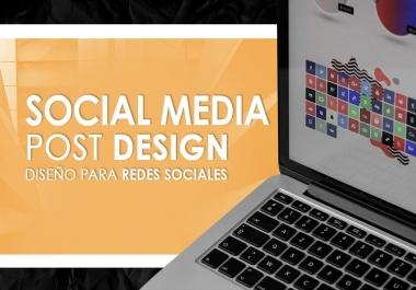 I will design your social media posts