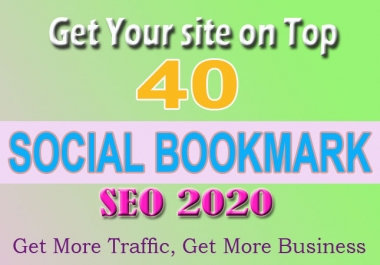 Manually Create 40 PR10 Social Bookmarking Backlinks get best Alexa Rank