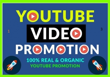 YouTube Video Promotion Real Active Audience