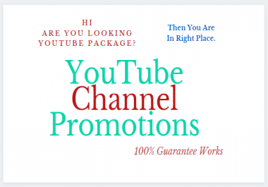 I will Give You YouTube Chanel Promotions