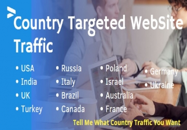 1K Country Targeted Website Traffic