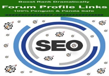 Get Manual Dofollow 60 Plus High Authority Forum Profile Links
