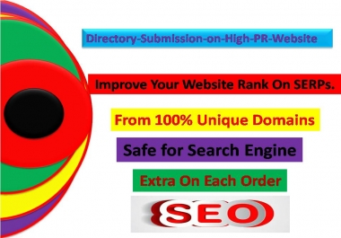 Get 15 plus Directory submission backlinks from high quality