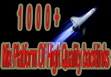 Rank with 1000+ Mix Platform Of High Quality backlinks for your Video or Website